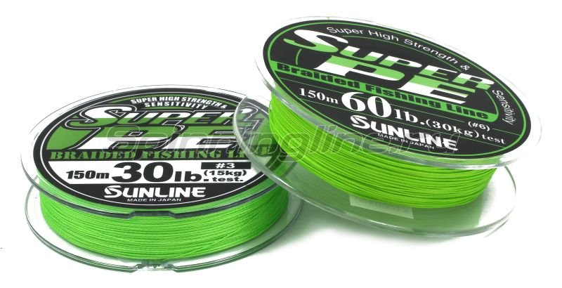 Шнур Super PE 150м 4 light green -  2
