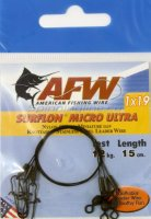 Поводок оснащенный AFW Surflon Micro Ultra 1*19 12кг-15см