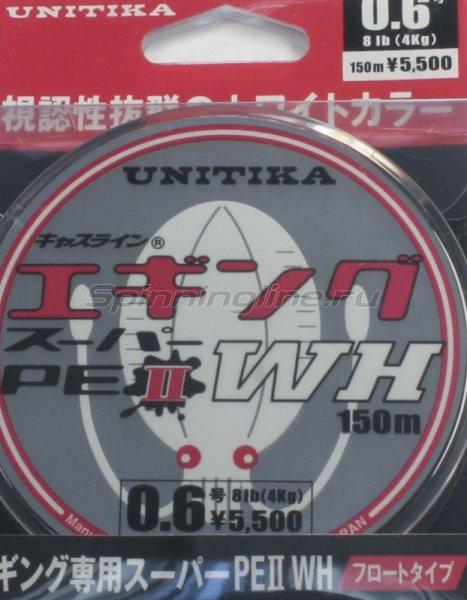 Unitika - Шнур Eging Super PE WH ll 150м 0,165мм - фотография 1