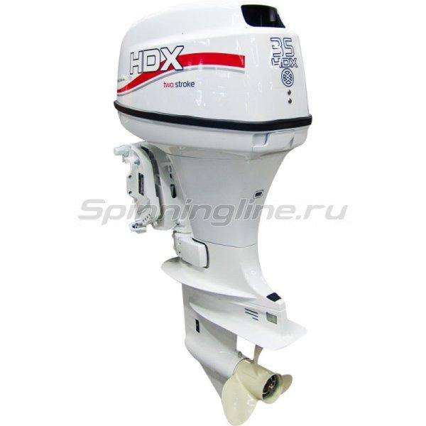 Мотор лодочный 2-тактный HDX T 35 FWS, белый -  1