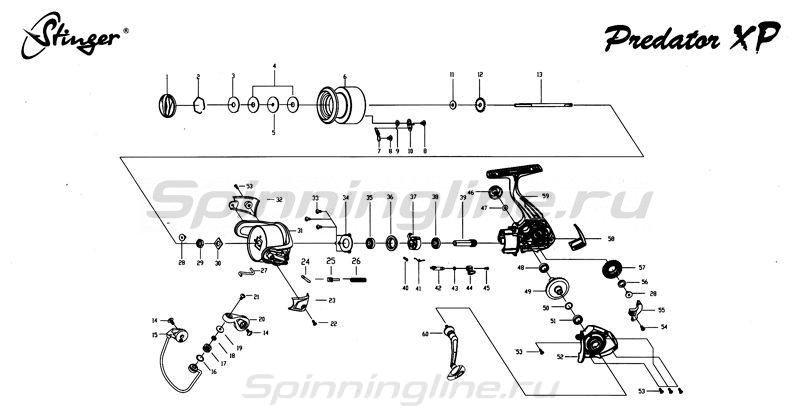 Stinger - Катушка Predator XP 2000 - фотография 6