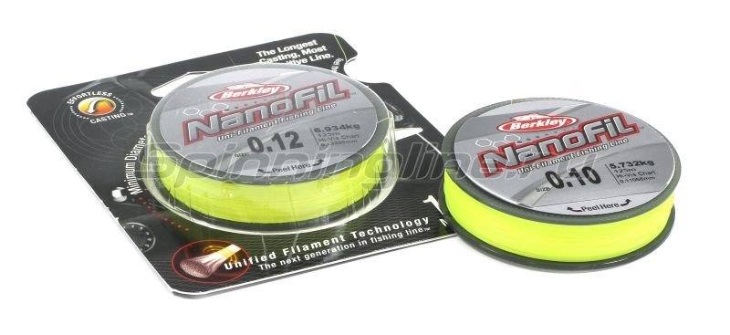 Nanofil Berkley 125м 0,08мм chartreuse -  1