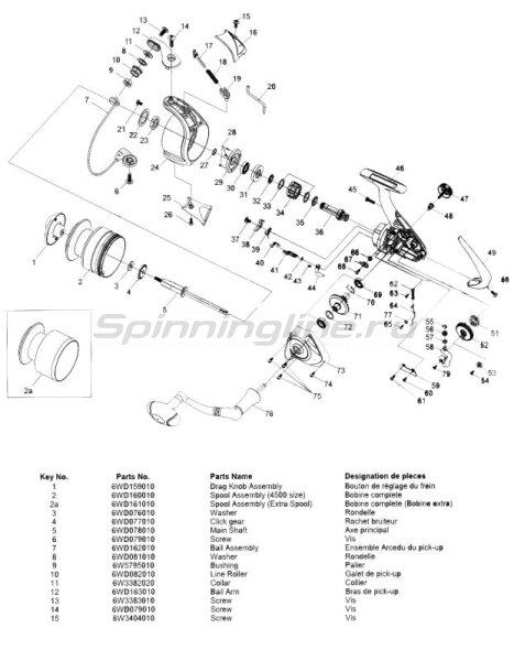 Катушка Opus Е4500А -  4