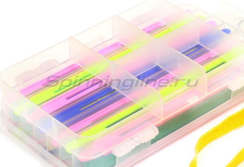 Коробка с пластиковым мотовилом Salmo 52 Double Sided -  3
