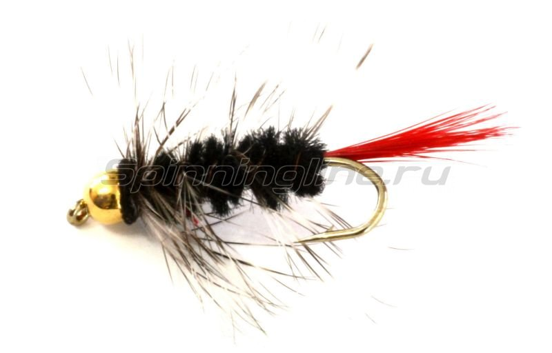 Sci Flies - Набор Woolly Worm Red Tail GB Black №12 - фотография 1