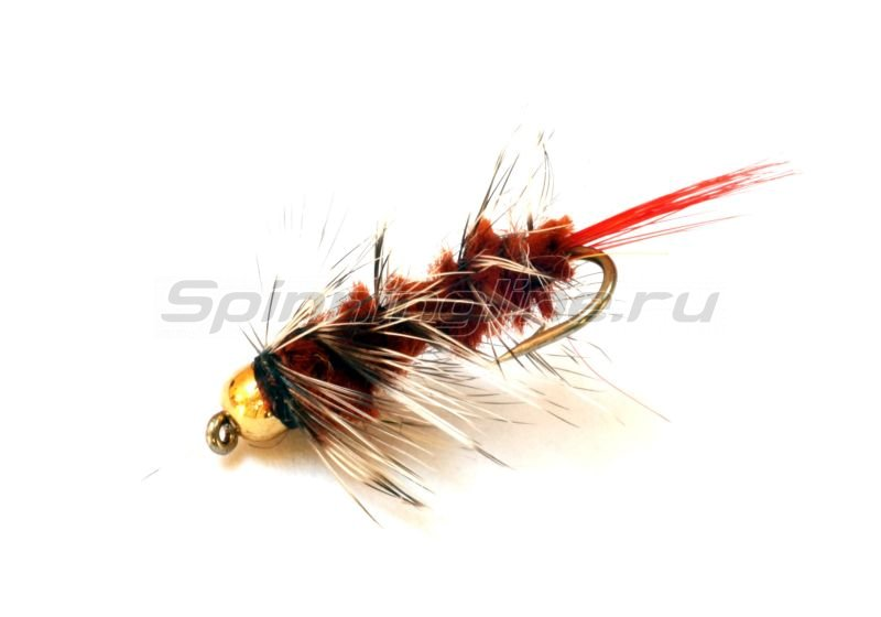 Sci Flies - Набор Woolly Worm Red Tail GB Brown №12 - фотография 1