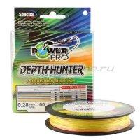 Шнур Power Pro Depth Hunter Multicolor 150м 0,13мм