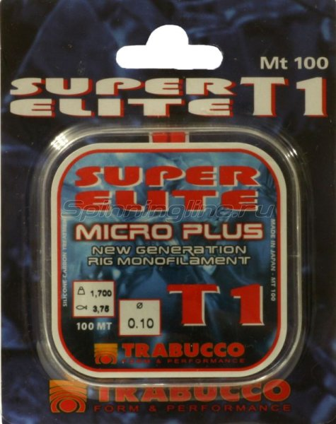 Trabucco - Леска Super Elite Micro 100м 0,14мм - фотография 1