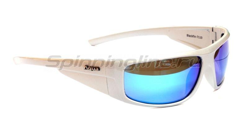 Очки Aqua Blackfin Pearl Silver PL-Mirror Blue - фотография 1