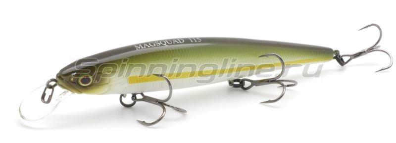 Воблер Mag Squad 115SP chartreuse striped ayu -  1