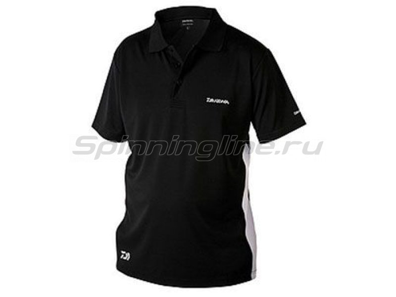 Футболка Daiwa Polo Shirts Black XXL - фотография 1
