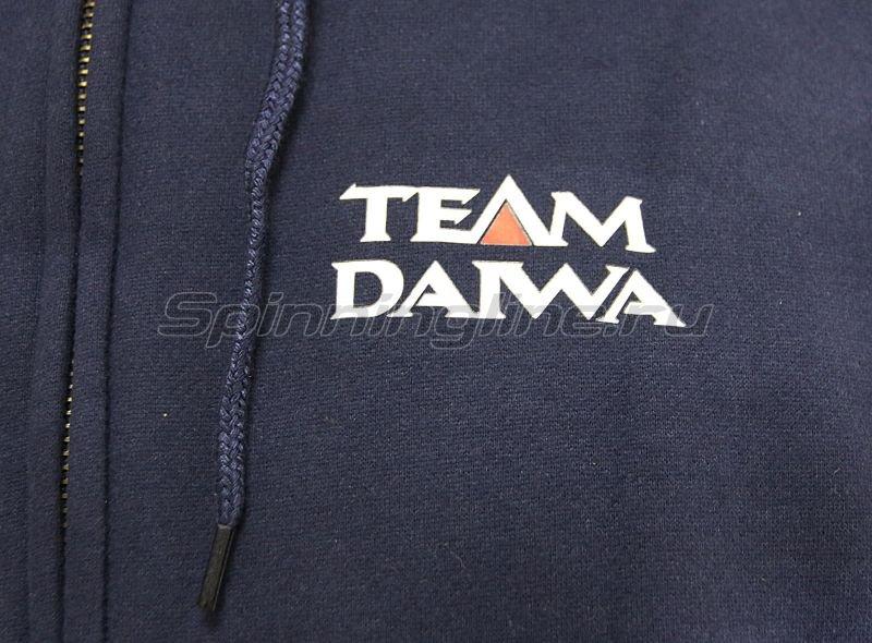 Толстовка с капюшоном Team Daiwa Hoodie Blue L - фотография 3