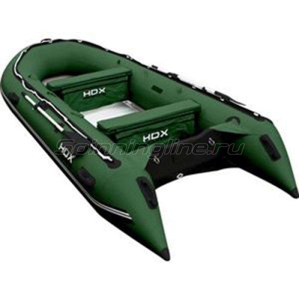 Лодка ПВХ HDX Oxygen 430 AL зеленая - фотография 1