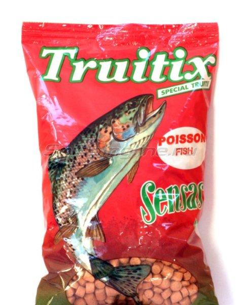 Пеллетс прикормочный Sensas Trutix pink-fish 0,5кг -  1