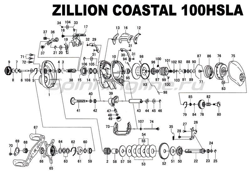 Daiwa - Катушка TD Zillion Coastal L 100HSLA - фотография 3