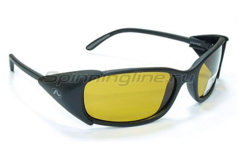 Очки Aqua Striper Matt Black PL-Yellow - фотография 1