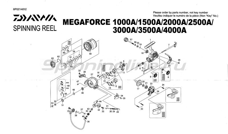 Daiwa - Катушка Megaforce A 3000 - фотография 2