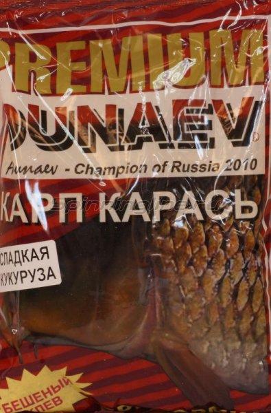 Прикормка Dunaev Premium 1кг Карп-Карась Сладкая кукуруза - фотография 1