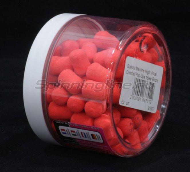 Бойлы High Visual Dumbell Pop-Ups 15мм Bright Pink-Clockwork Orange -  2