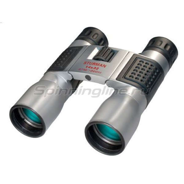 Бинокль Sturman компактный 14х32 серебряный -  1