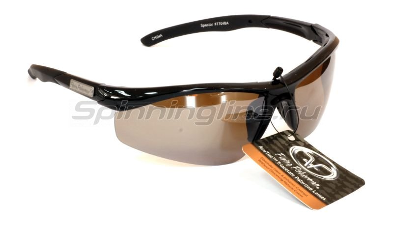 Flying Fisherman - Очки Fly Fisherman Spector Black Amber Silver Mirror - фотография 1