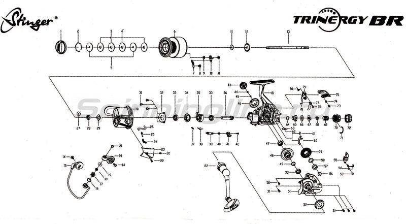 Stinger - Катушка Trinergy BR 4500 - фотография 2