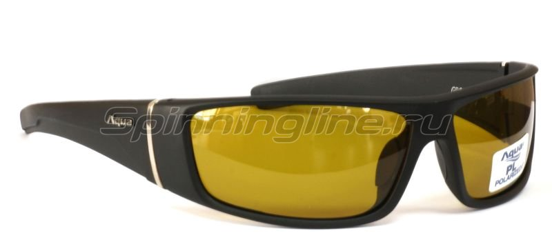Очки Aqua Grouper Black Matt PL-Yellow - фотография 1