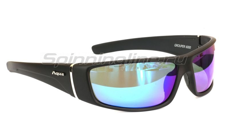Очки Aqua Grouper Black Matt PL-Mirror Blue -  1