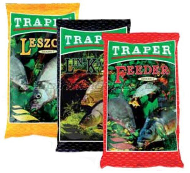 Прикормка Traper Sekret линь-карась зеленый с марцепаном 1кг - фотография 1