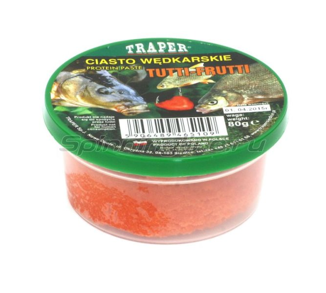 Traper - Готовое протеиновое тесто Tutti-Frutti 80гр - фотография 1