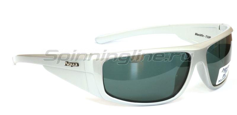 Очки Aqua Blackfin Pearl Silver PL-Grey -  1