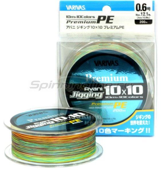 Шнур Avani Jigging 10x10 Premium PE 200м 0.8 -  1