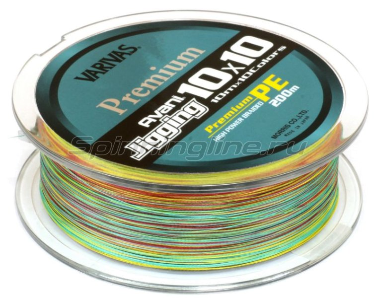 Шнур Avani Jigging 10x10 Premium PE 200м 1.5 -  2
