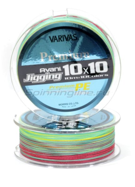 Шнур Avani Jigging 10x10 Premium PE 200м 1.5 -  3