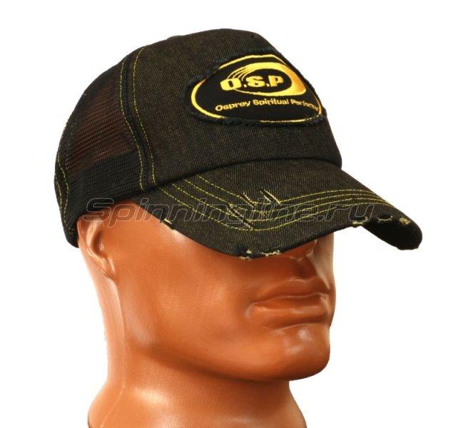 Кепка O.S.P Denim Mesh Cap черная -  1