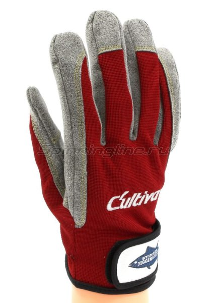 Перчатки Jigging Glove L красный -  1