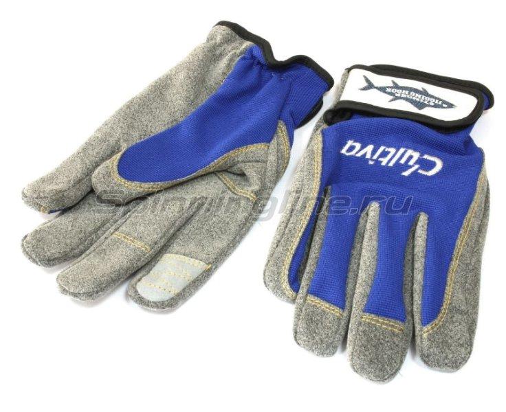 Перчатки Jigging Glove LL голубой -  1