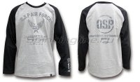 Футболка O.S.P Long Sleeve T-Shirt Raglan Black L