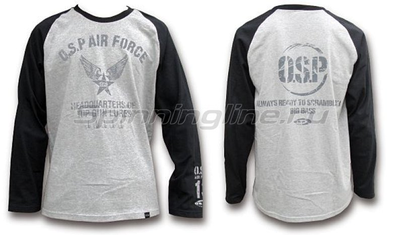 Футболка O.S.P Long Sleeve T-Shirt Raglan Black L - фотография 1