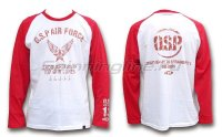 Футболка O.S.P Long Sleeve T-Shirt Raglan Red L