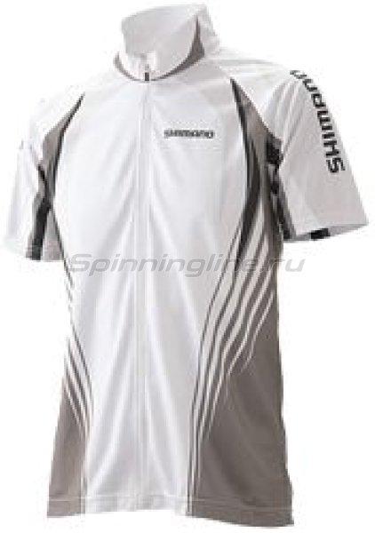 Футболка Shimano Stretch цв. белый LL - фотография 1
