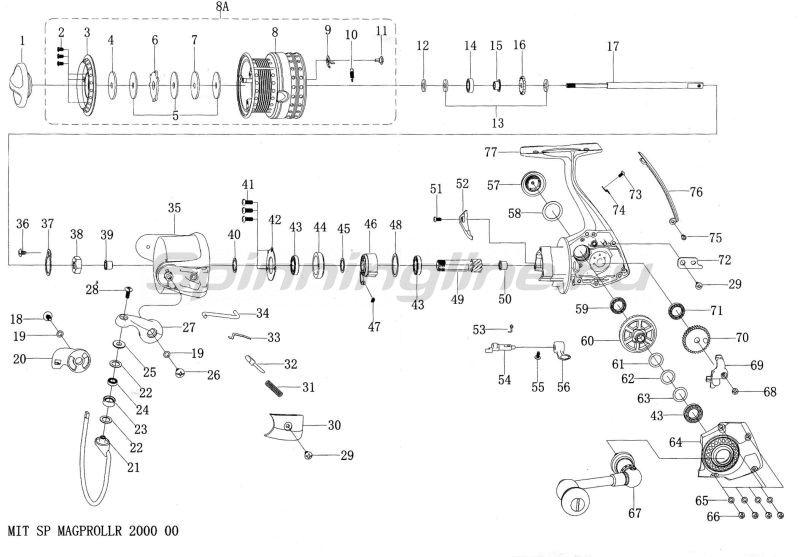 Катушка Mitchell Mag Pro Lite 2000 LR -  10
