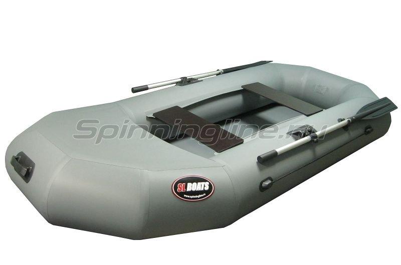 Лодка ПВХ SL 240Ф серая -  1