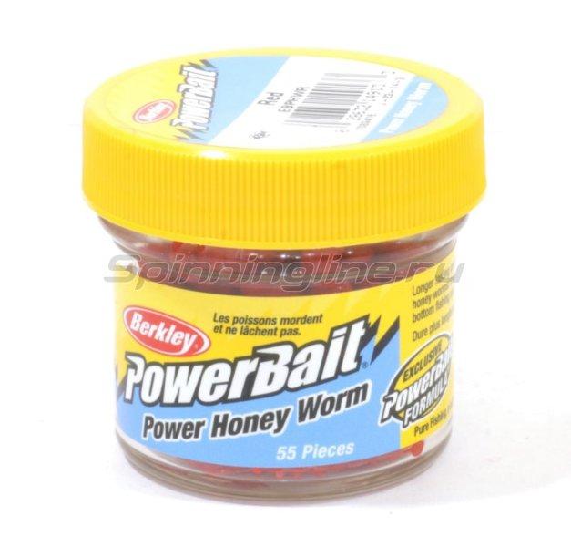 Berkley - Приманка Powerbait Honey Worms 25 red - фотография 1