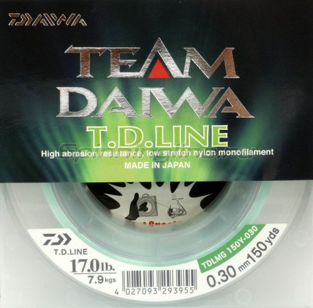 Леска Team Daiwa Line Green 135м 0,33мм -  1