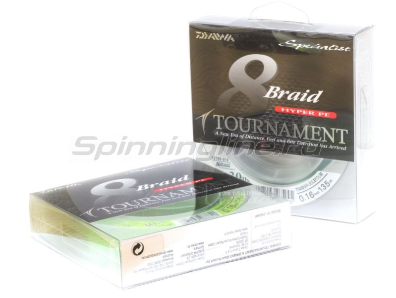 Шнур Tournament 8xBraid Chartreuse 135м 0.12мм -  1