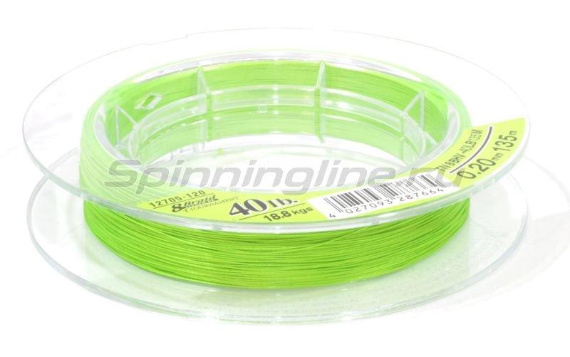 Шнур Tournament 8xBraid Chartreuse 135м 0.12мм -  3
