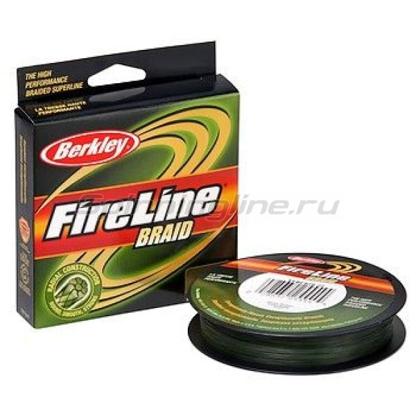 Berkley - Шнур FireLine Lo Vis Green Braid 270м 0,20мм - фотография 1
