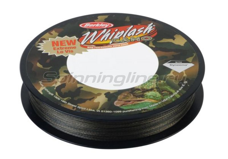 Шнур Whiplash Camo 110м 0.06мм -  3