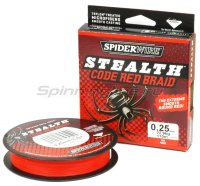 Шнур Spiderwire Stealth 110м 0,12мм Red